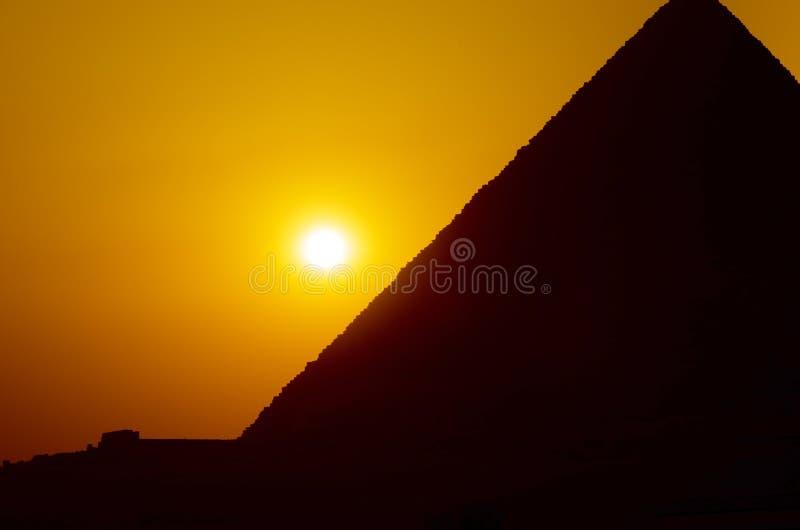 Zmierzch w Giza obrazy stock
