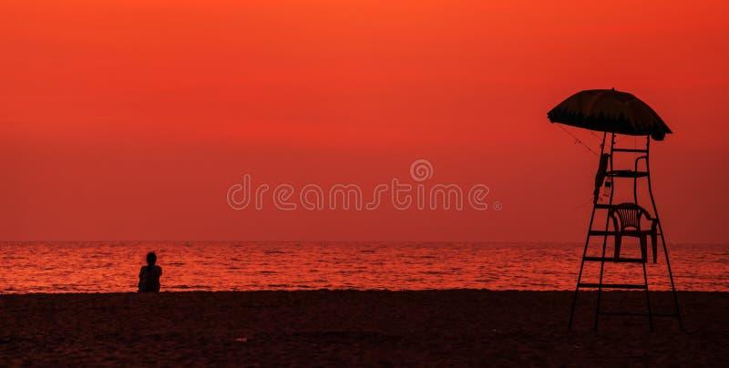 Zmierzch w Goa fotografia royalty free