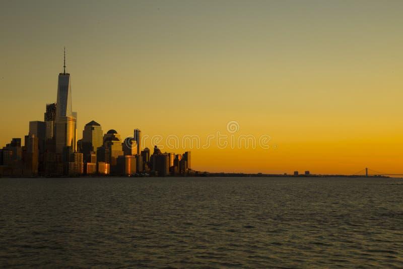 Zmierzch w Manhattan zdjęcie stock