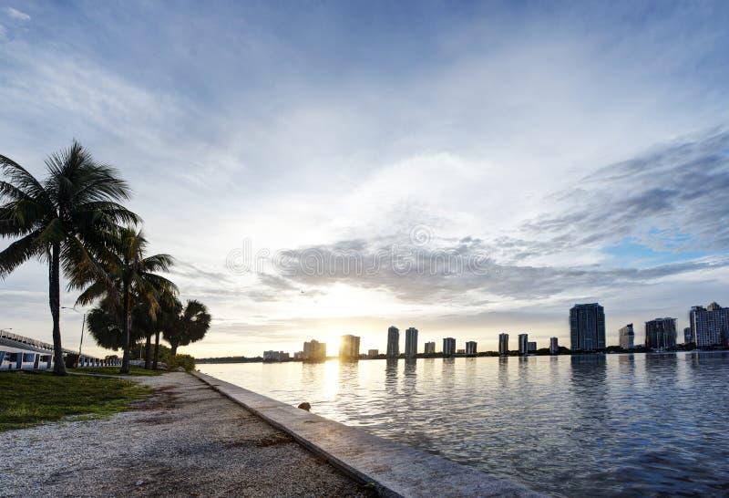 Zmierzch w Miami obrazy stock