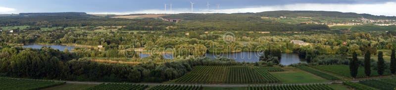 Zmierzch w Moselle zdjęcie royalty free
