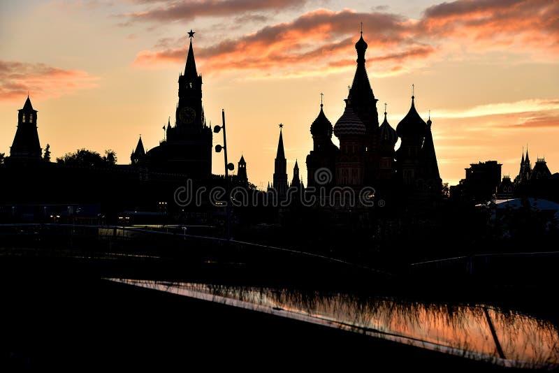 Zmierzch w Moskwa, plac czerwony zdjęcie royalty free