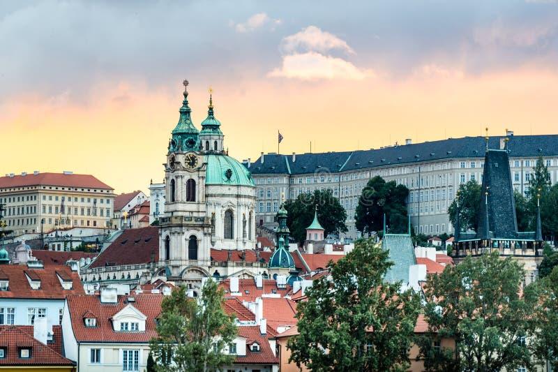 Zmierzch w Praga, republika czech obraz stock