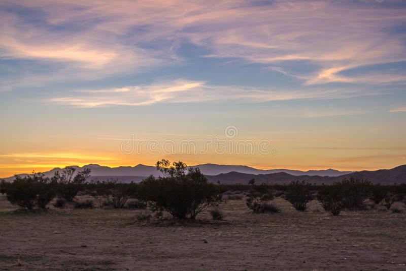 Zmierzch w pustyni - 4 obrazy royalty free