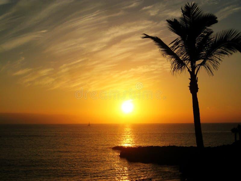 Zmierzch w Tenerife (Hiszpania) zdjęcia royalty free