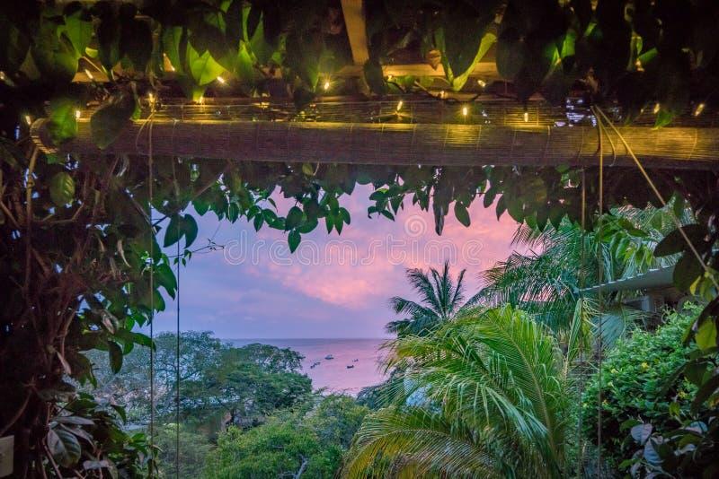 Zmierzchu Curacao widoki fotografia royalty free