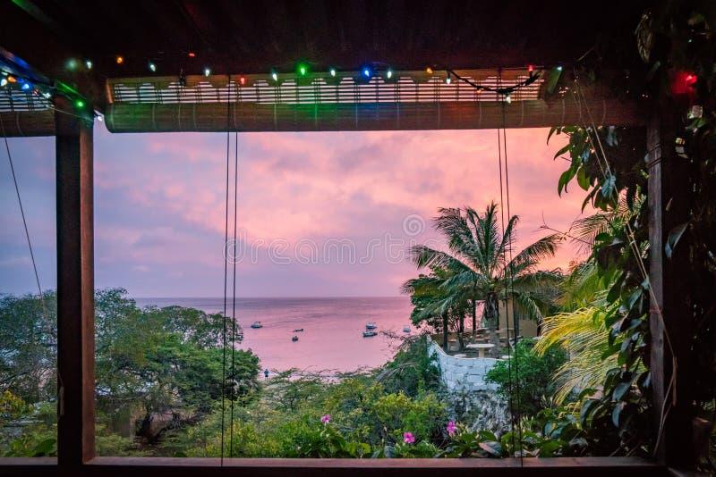 Zmierzchu Curacao widoki obraz royalty free