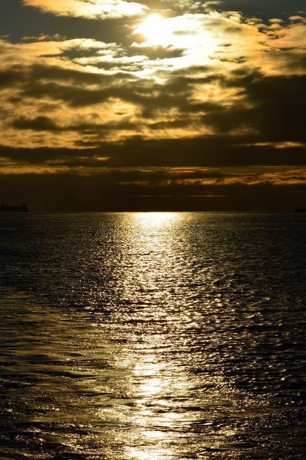 Zmierzchu Gerlache cieśnina, Antarctica obrazy royalty free