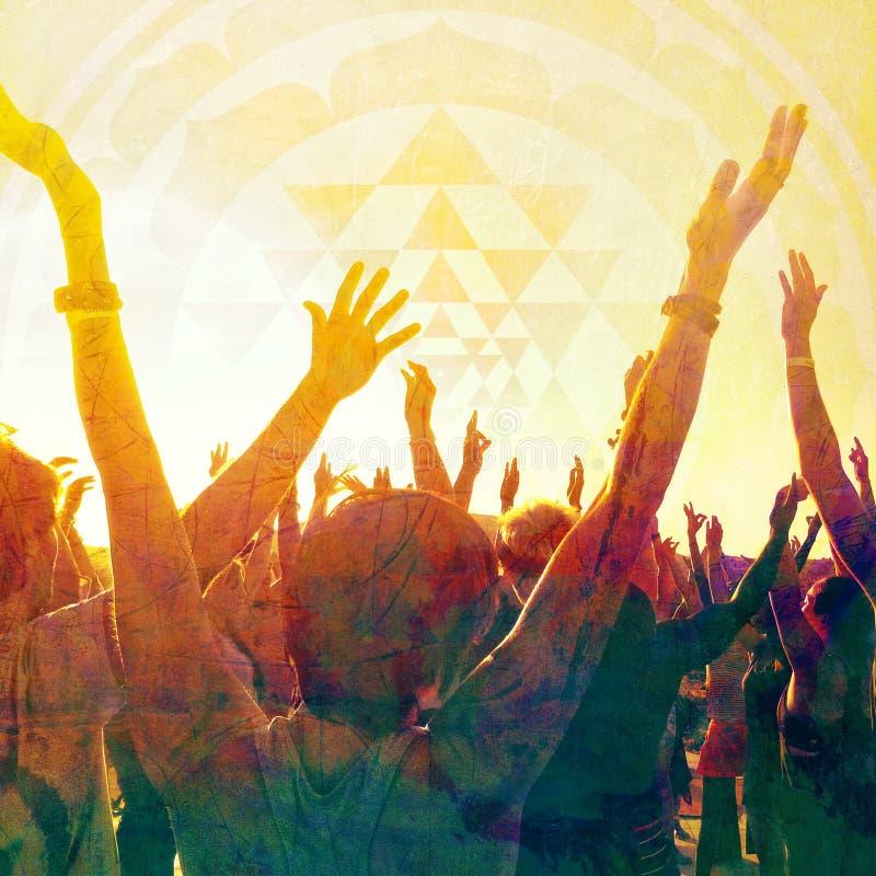 Zmierzchu joga medytacja W Bhav obraz stock