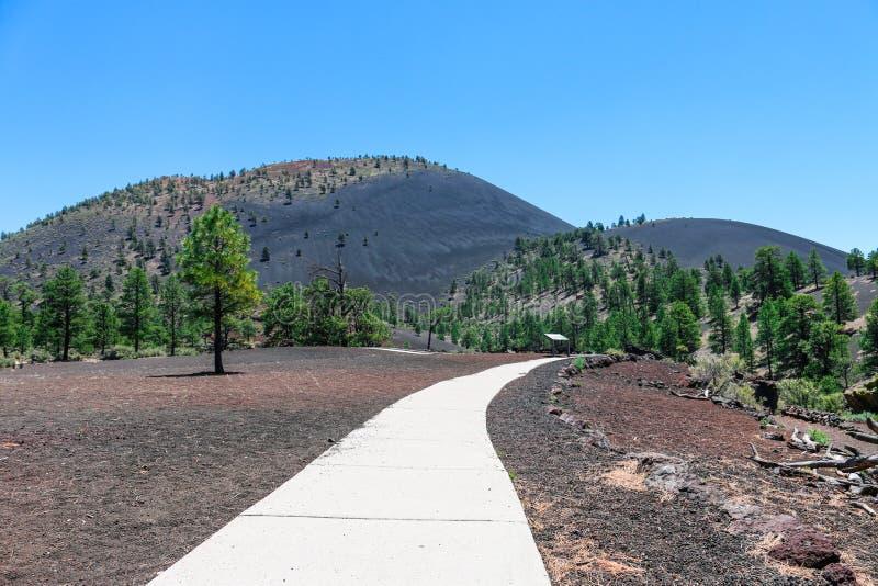 Zmierzchu krateru wulkanu Krajowy zabytek zdjęcia royalty free