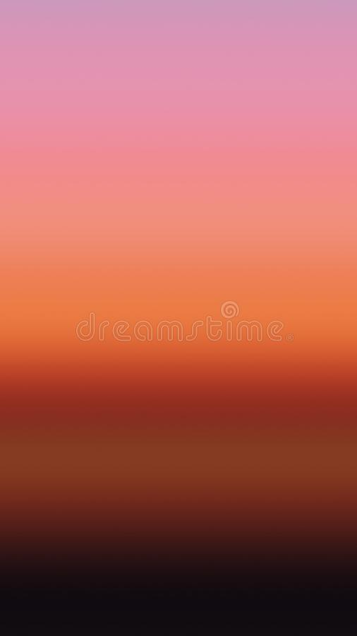 Zmierzchu nieba tła gradientowy wschód słońca, półmrok ilustracja wektor