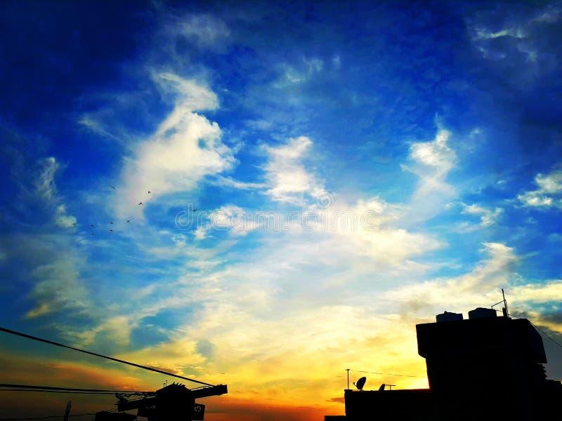 Zmierzchu niebo obraz stock