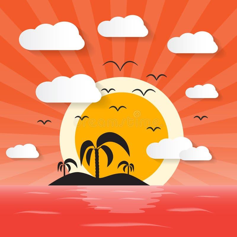 Download Zmierzchu Oceanu Ilustracja Ilustracji - Ilustracja złożonej z podróż, zmierzch: 57655719
