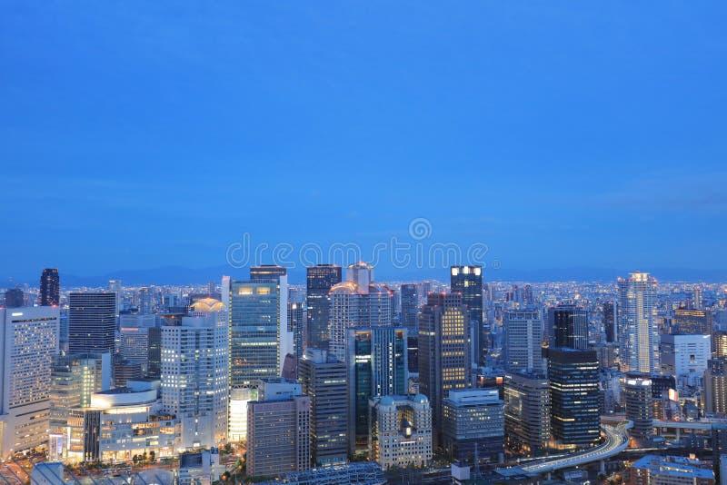 Zmierzchu Osaka miasta śródmieście przy Umeda nieba budynkiem obrazy stock