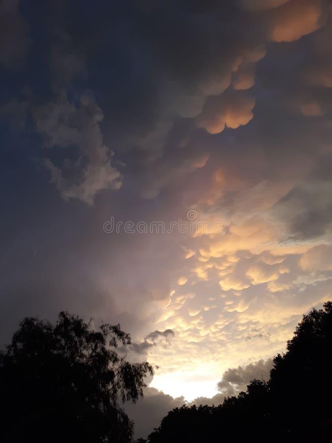 Zmierzchu tornado obraz stock