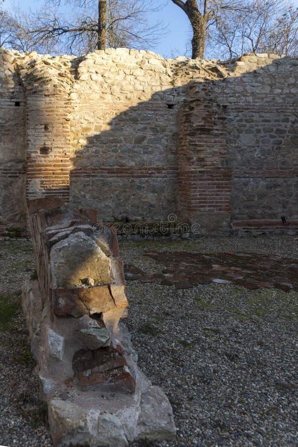 Zmierzchu widok antyczni Termiczni skąpania Diocletianopolis, Hisarya, Plovdiv region, Bułgaria obrazy stock