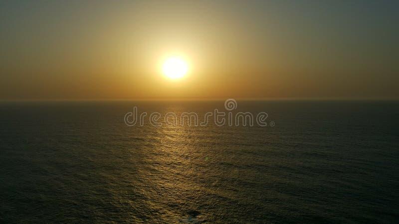 Zmierzchu widok na ocean atlantycki wielki zdjęcie royalty free