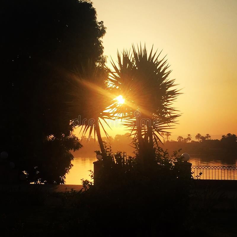 Zmierzchy nad Nil obraz royalty free