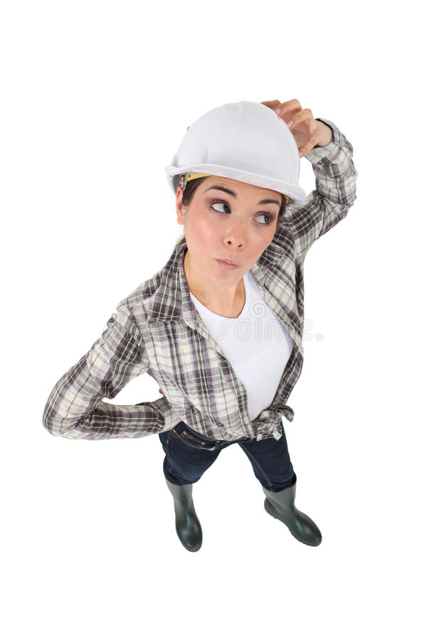 Zmieszany żeński ręczny pracownik obrazy stock