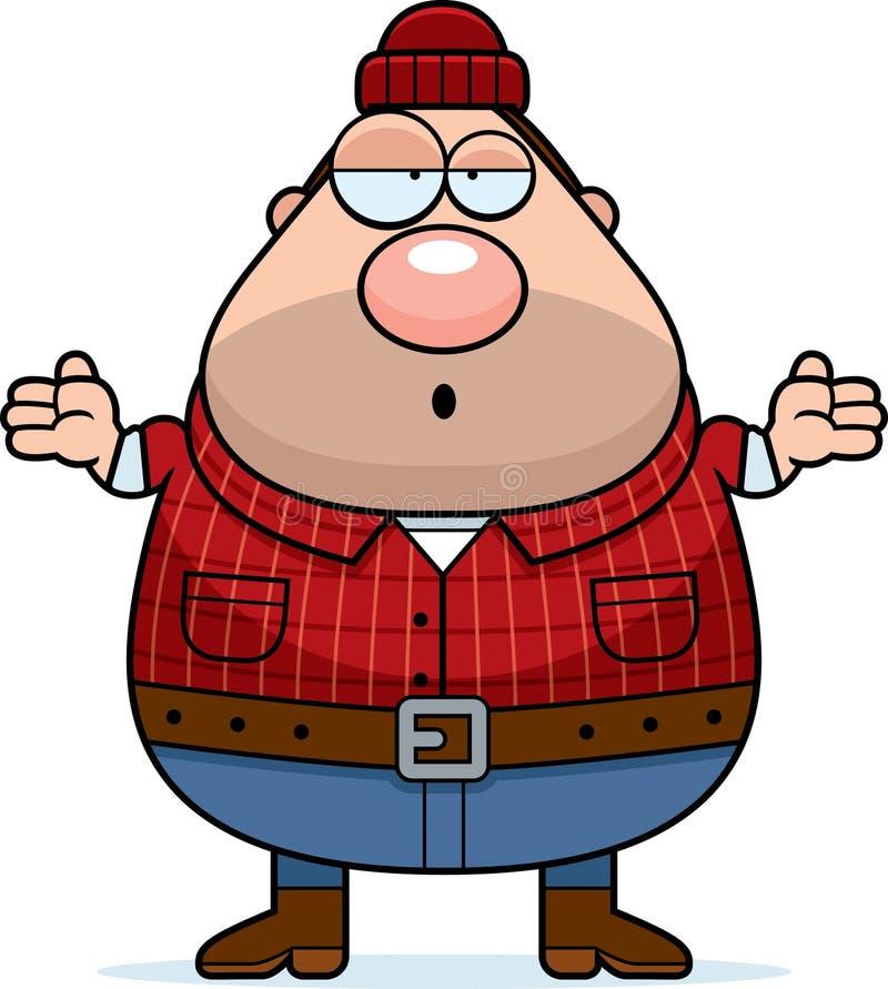 Zmieszany kreskówki Lumberjack ilustracja wektor