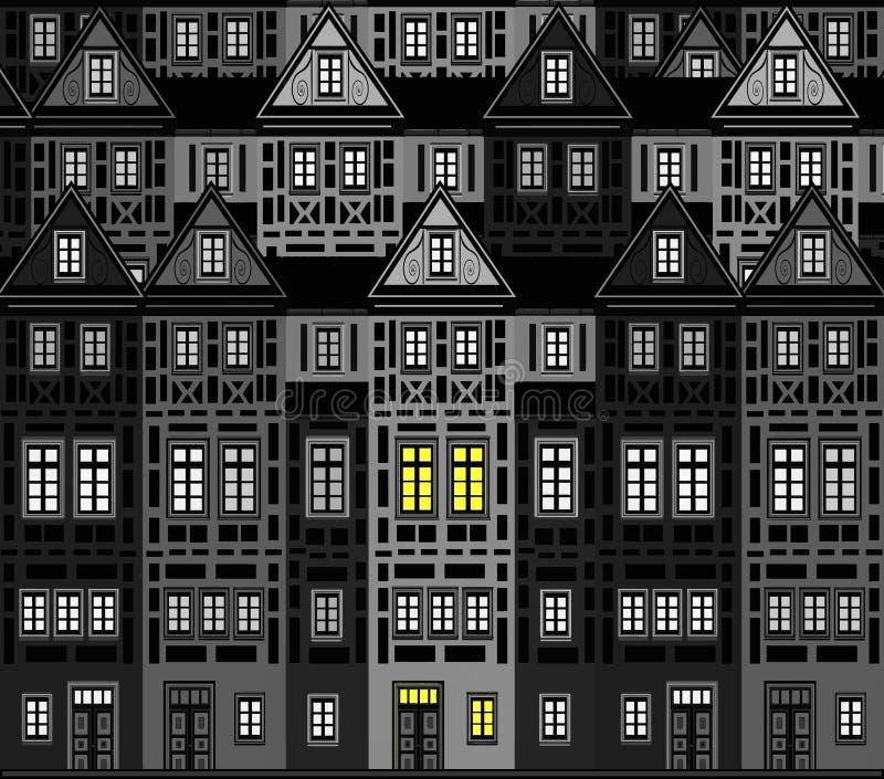 Zmniejszający się miasto royalty ilustracja