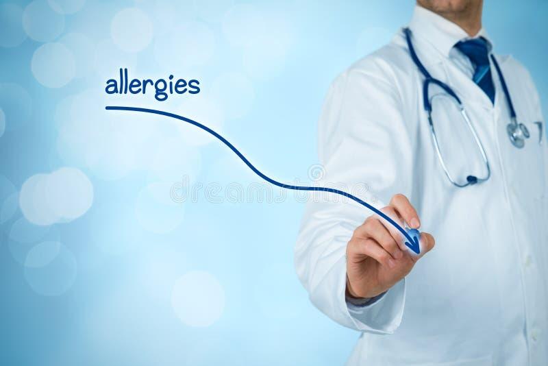 Zmniejszanie alergie obraz stock