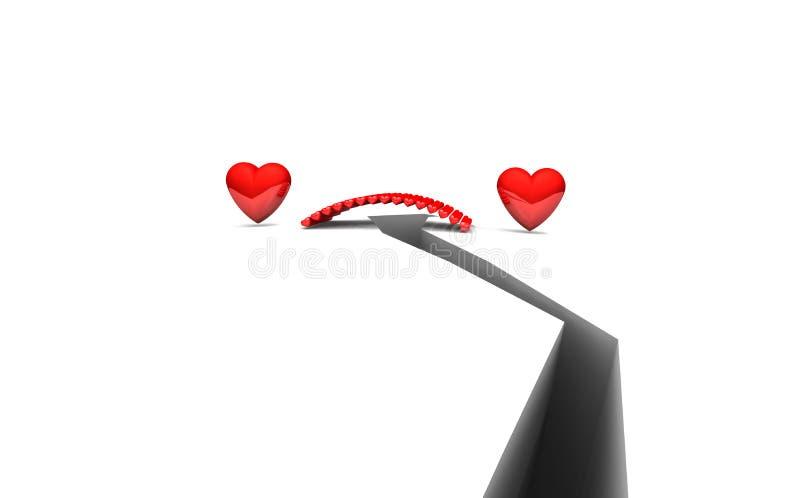 zmor miłości duszy wpólnie ilustracja wektor