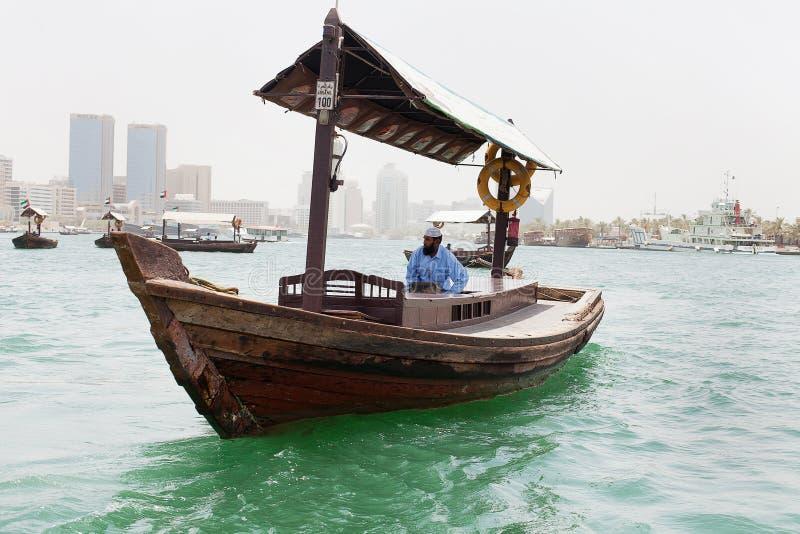 Zmotoryzowana abras Dubaj zatoczka zdjęcie royalty free
