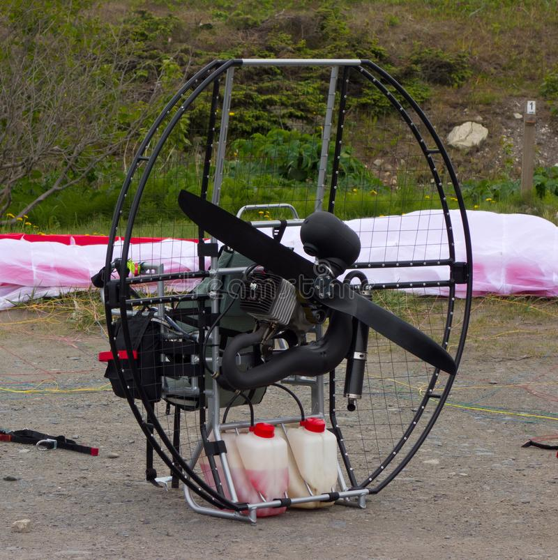Zmotoryzowany contraption używać dla krańcowego sporta zdjęcia stock