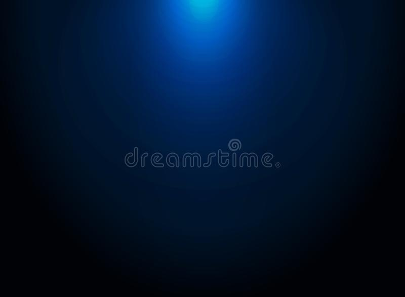 Zmrok - błękitny gradientowy wektorowy nowożytny elegancki z oświetleniowym ob wierzchołkiem ilustracja wektor