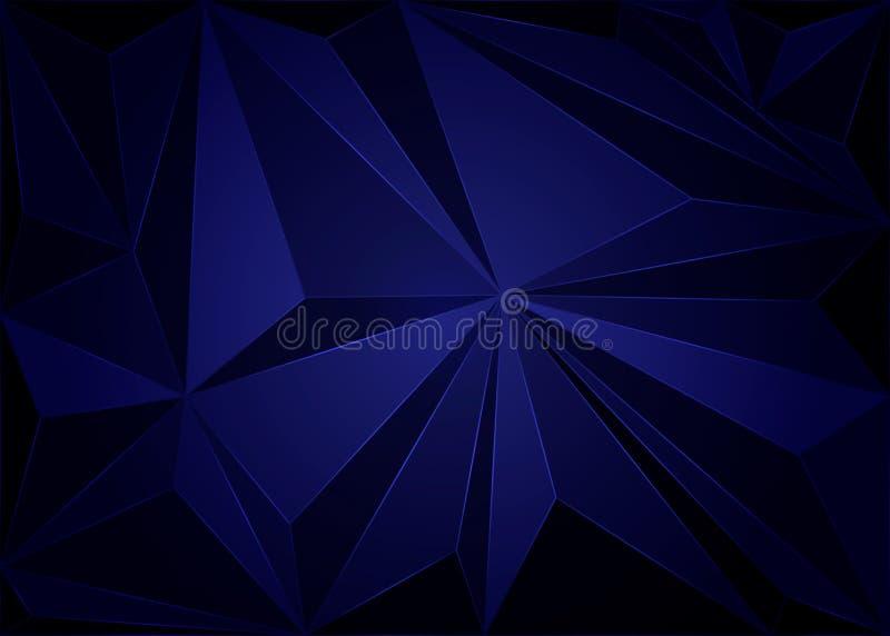 Zmrok - błękitny niski poli- szablon Elegancka jaskrawa ilustracja z gradientem Całkowicie nowy szablon dla twój biznesu royalty ilustracja