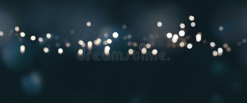 Zmrok - błękitny tło z srebnymi światłami obraz royalty free