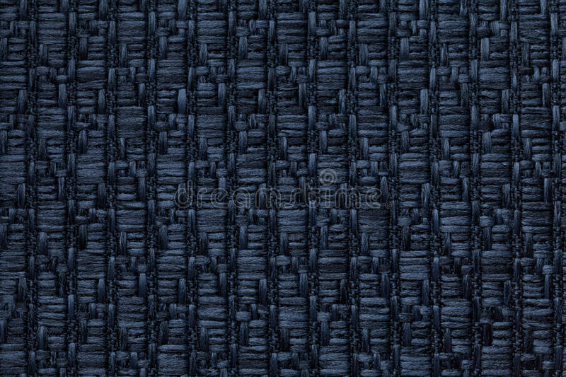 Zmrok - błękitny trykotowy woolen tło z wzorem miękka część, wełnisty płótno Tekstura tekstylny zbliżenie zdjęcia stock