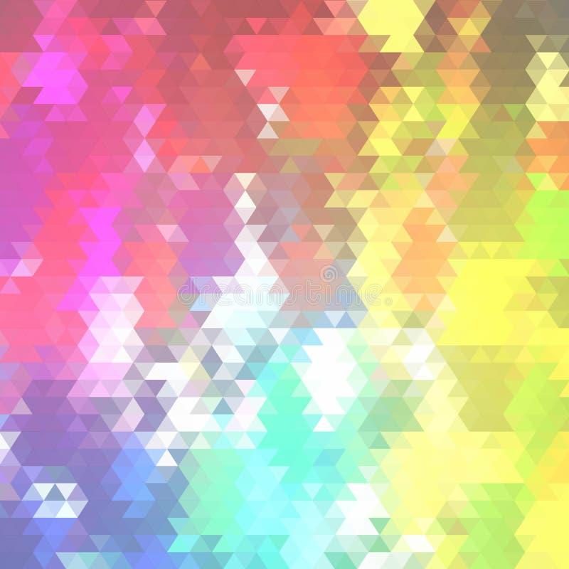 Zmrok - b??kit, Czerwony wektorowy abstrakcjonistyczny poligonalny wz?r Ol?niewaj?ca kolorowa ilustracja z tr?jbokami Wz?r dla ga ilustracji