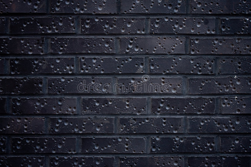 zmrok ceglana ściana obrazy stock