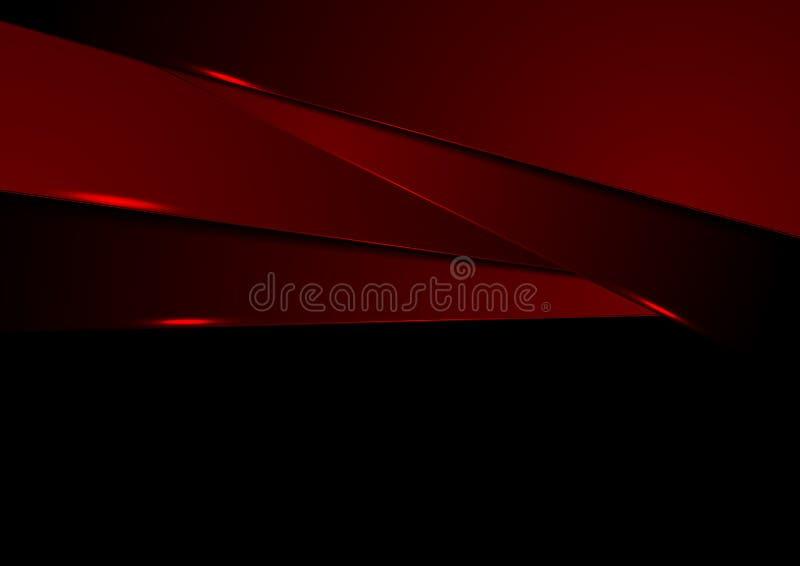 Zmrok - czerwonej abstrakcjonistycznej techniki korporacyjny tło royalty ilustracja