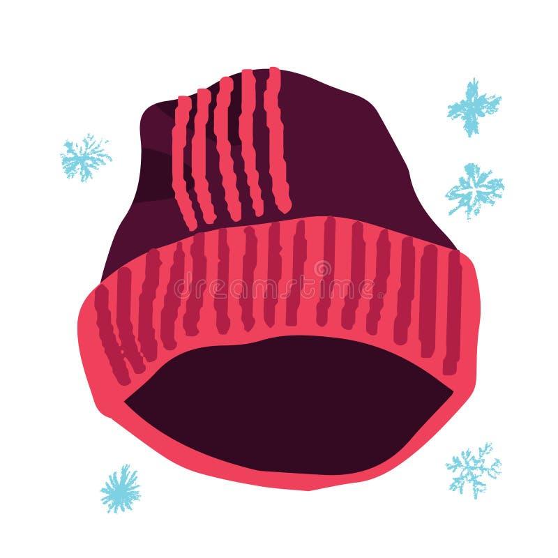 Zmrok - czerwony beanie ilustracji