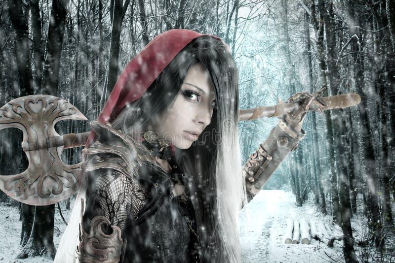 Zmrok - czerwony Jeździecki kapiszon zdjęcie royalty free