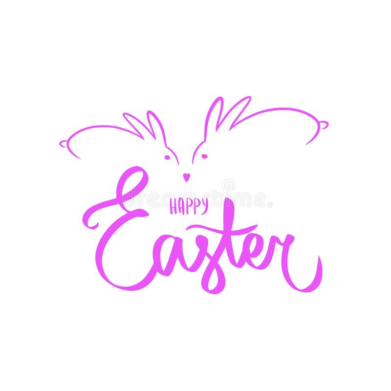 Zmrok menchii karta Projekta szablonu sztandaru Szczęśliwa wielkanoc Sylwetki królik, prosta dekoracja Kwadratowa karta z logo dl ilustracji