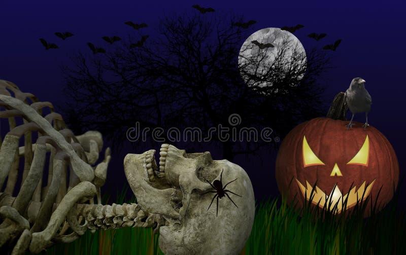 Zmrok, Straszny Halloweenowy Złożony ilustracja wektor