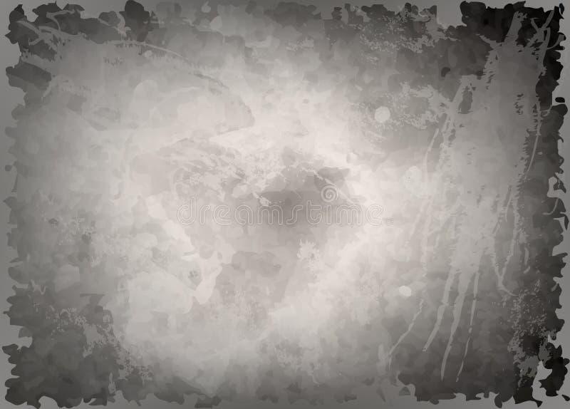 Zmrok - szary akwareli tło, monochromatyczny parawanowy ciułacz Abstrakcjonistyczny czarny tło z narysami Rocznik grungy tekstura ilustracji