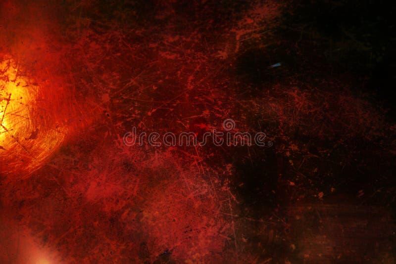 Zmrok - z narysami grunge czerwony tło ilustracja wektor