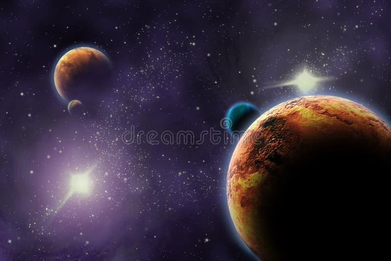 zmroku głęboka planet przestrzeń royalty ilustracja