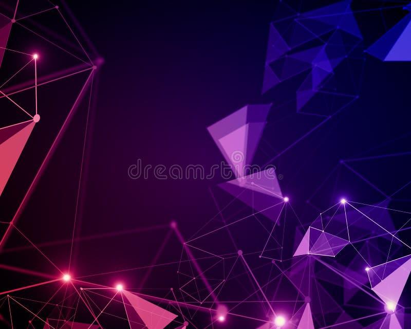Zmroku różowy poligonalny wzór royalty ilustracja