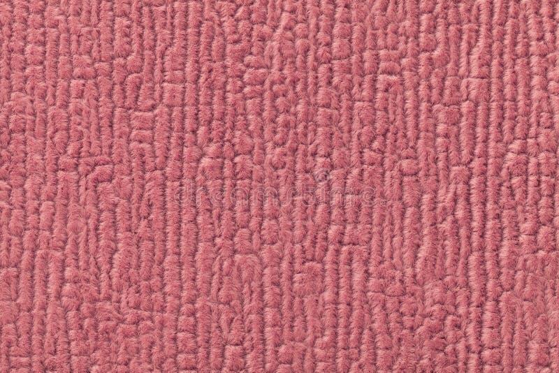 Zmroku różowy puszysty tło miękka część, wełnisty płótno Tekstura tekstylny zbliżenie zdjęcie royalty free