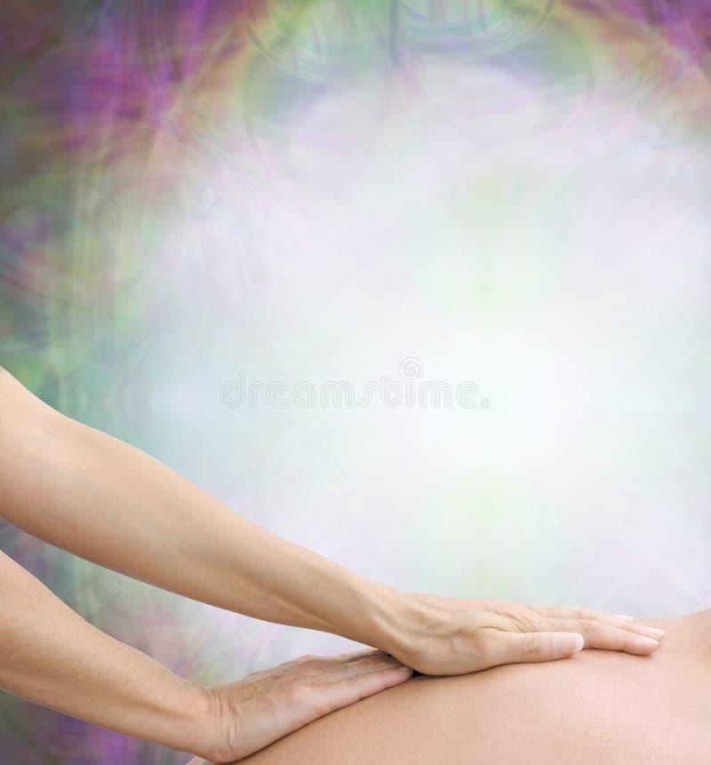 Zmysłowa ciało masażu tła granica zdjęcia stock