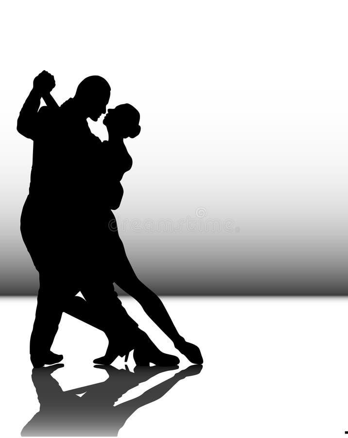 zmysłowy taniec ilustracja wektor