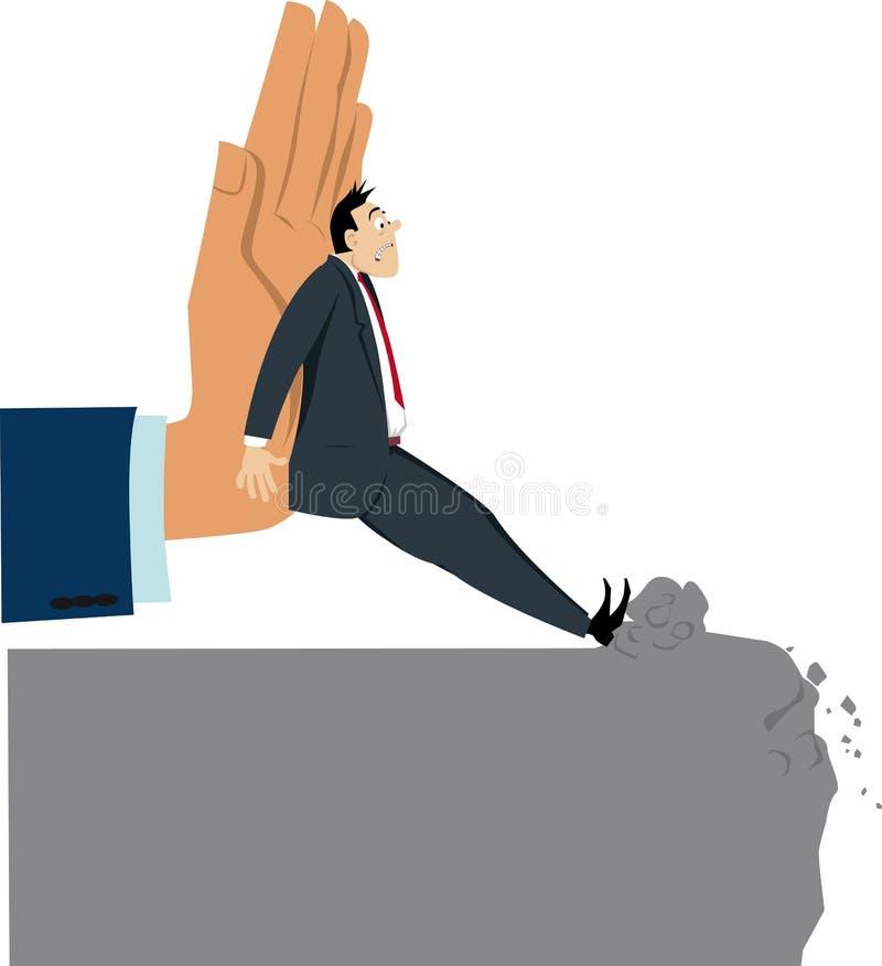 Znęcać się przy pracą ilustracji