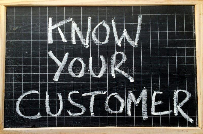 Zna Twój klienta zdjęcie stock