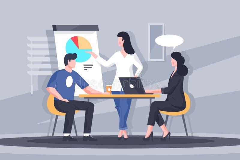 Znacząco biznesowa dyskusja ilustracji